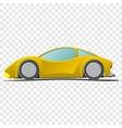 Cartoon yellow sportscar vector image