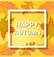 happy autumn vector image