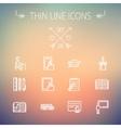 Education thin line icon set vector image