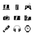 Set of GADGET icons with - notebook phone vector image