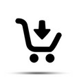 shopping cart icon flat design best vector image