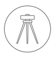 Theodolite on tripod line icon vector image