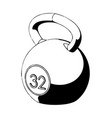 3d model of weight on a white vector image vector image