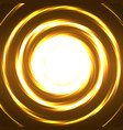 abstract technology circles glowing spiral vector image