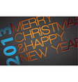 Abstract typography Christmas vector image vector image