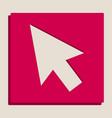 arrow sign grayscale version vector image vector image