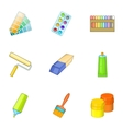 Art instruments for painting icons set vector image vector image