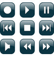 audio video control buttons vector image