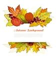 Autumn border vector image vector image