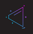 back icon design vector image