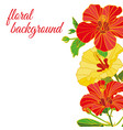 background painted flowers logo cover vector image vector image