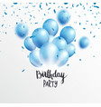 birthday celebrations banner with blue balloons vector image vector image