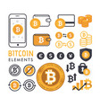 bitcoin elements vector image