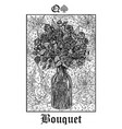 bouquet tarot card from lenormand gothic vector image