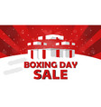 boxing day sale design with gift box snowfall and vector image vector image