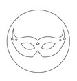 carnival mask icon design vector image
