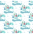 christmas theme pattern vector image vector image