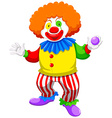 Clown holding a ball vector image vector image