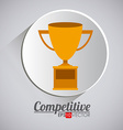 Competition design vector image