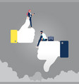 concept thumbs up and down like dislike vector image