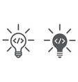 creative line and glyph icon idea and innovation vector image