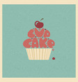 cupcake stylized image vector image vector image