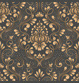 damask seamless pattern element elegant vector image vector image
