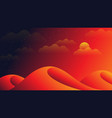 dramatic abstract sunset desert scenery background vector image vector image