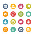 e-shopping icons - fresh colors series vector image vector image