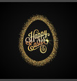 easter egg golden design background vector image vector image