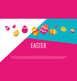 easter egg icons collection in flat style vector image