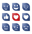emoji icons funny faces with different emotions vector image