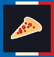 france culture card with pizza portion vector image