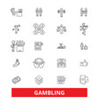 gambling casinopoker roulette slot machine vector image