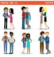 Gays and lesbian couple Lgbt vector image