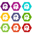 ghost icons set 9 vector image vector image