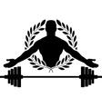 glory of bodybuilding vector image vector image