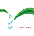 grass with water drops vector image vector image