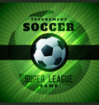 green soccer tournament championshio background vector image