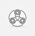 Hand triple spinner simple icon vector image