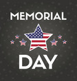 happy memorial day greeting card with flag vector image