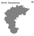 high quality map province of south korea vector image