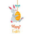 holiday bright design with cute easter rabbit vector image vector image