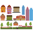 houses and skyscrapers vector image