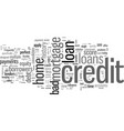 how to get home loan with bad credit vector image vector image