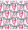 i love you text heart sharp seamless vector image vector image