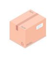 isometric box isolated on white background vector image vector image