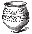 jar of castor ware with reliefs of a stag pursued vector image vector image