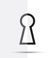 Keyhole icon vector image