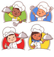 kids as national chefs vector image